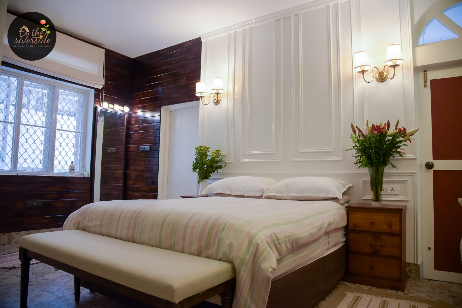 French style modern wall paneling